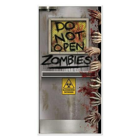 The Holiday Aisle Halloween Zombies Lab Door - Front Door Halloween Displays