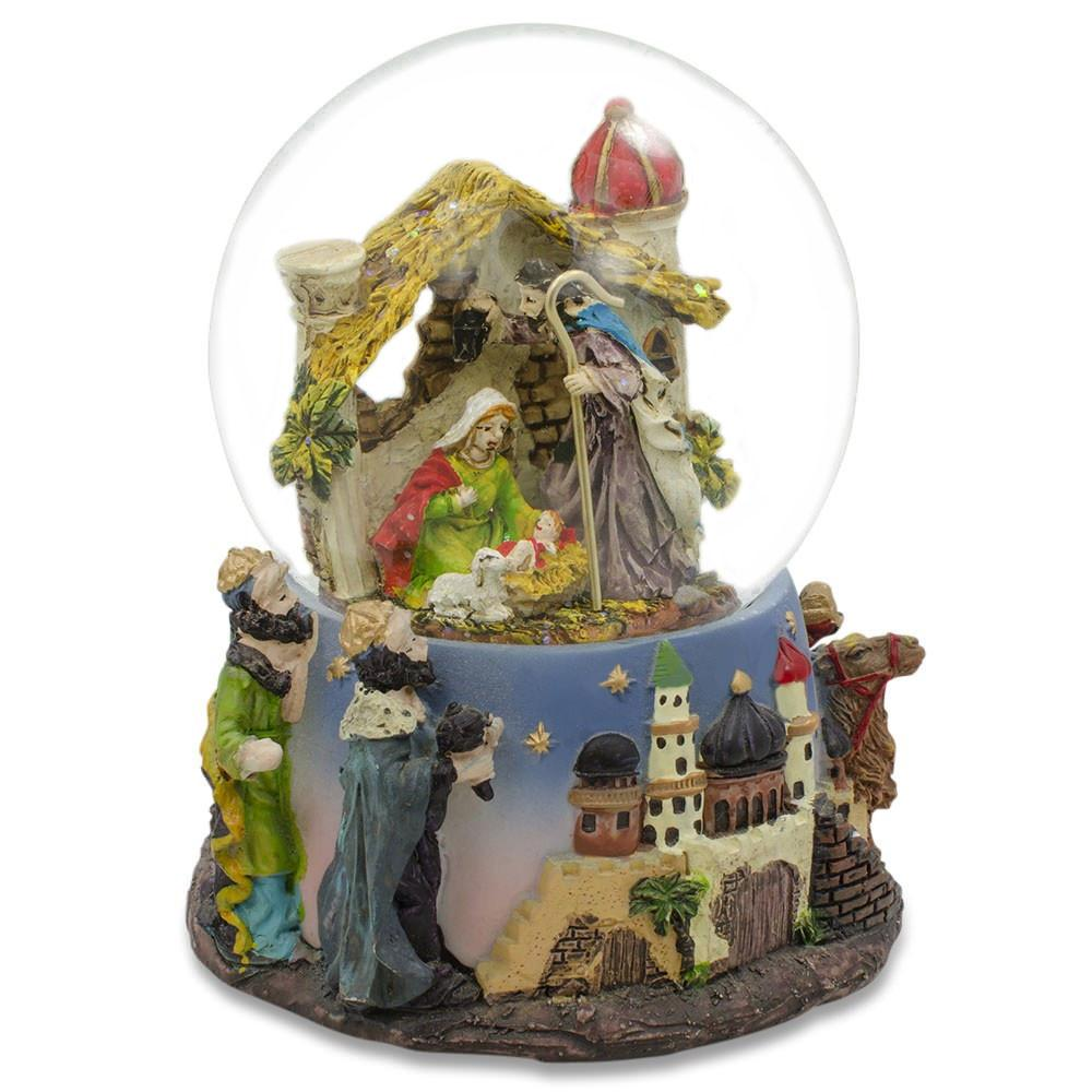 "6"" Nativity Scene Musical Snow Globe"
