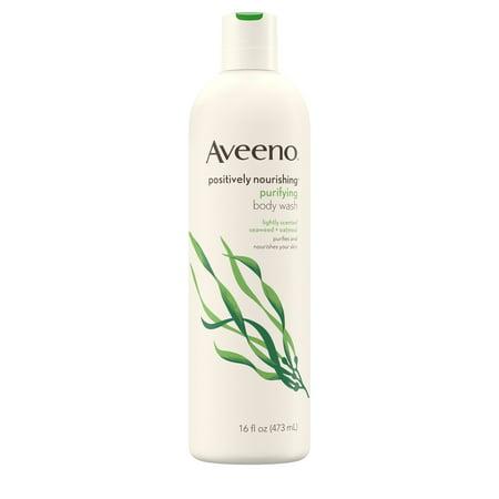 Aveeno Positively Nourishing Purifying Daily Body Wash, 16 fl. (16 Round Body)