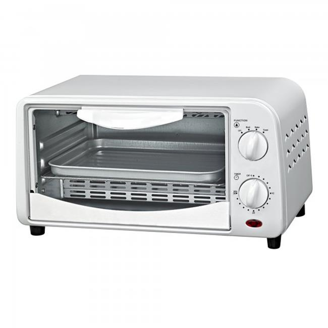 4 Slice Counter Top Toaster Oven, White by BakeOFF