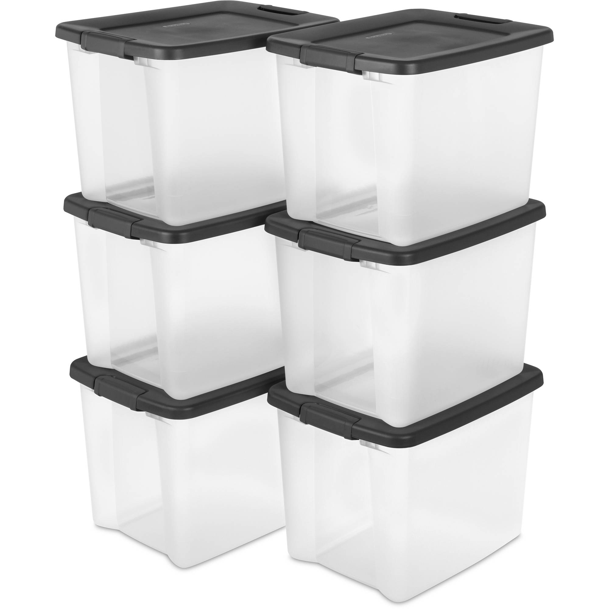 Sterilite 50 Quart ShelfTote, Gray, Case of 6