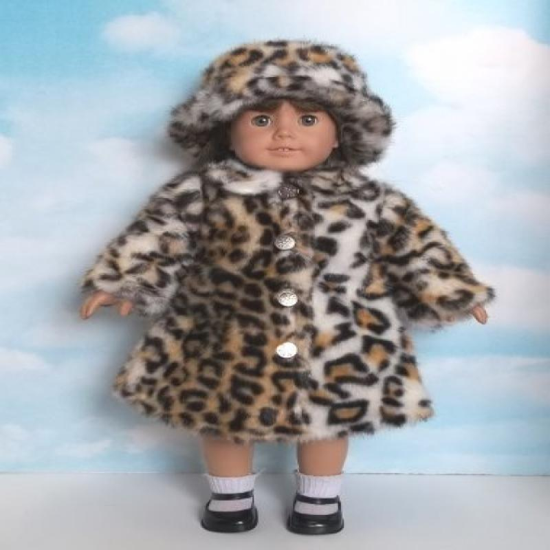"18 Inch Leopard Fur Coat and Fur Hat- Fits 18"" American G..."