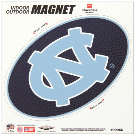 "North Carolina Tar Heels 6"" x 6"" Team Ball Oval Full Color Car Magnet - No Size"