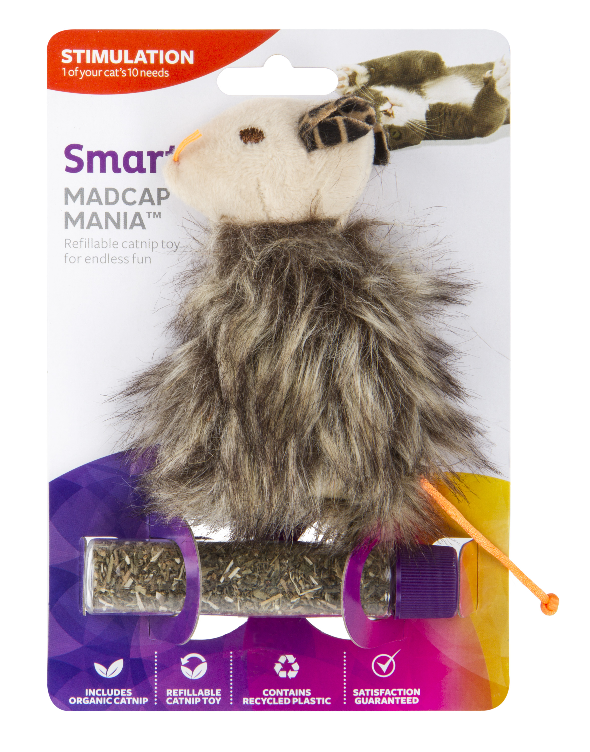 SmartyKat Madcap Mania Refillable Catnip Cat Toy by Worldwise