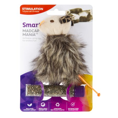 (2 pack) SmartyKat Madcap Mania Refillable Catnip Cat Toy