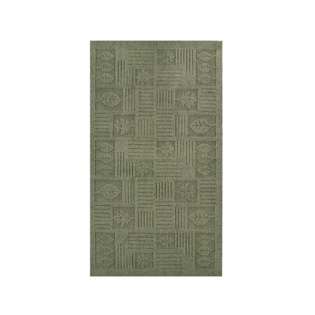 Leaf Pattern Textured Rug, 24