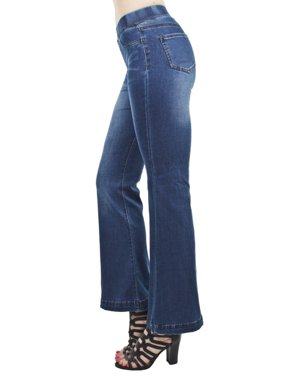 4aaf696f Product Image Women's Juniors Shaping Pull-On Flare Bootleg Bootcut Jeans