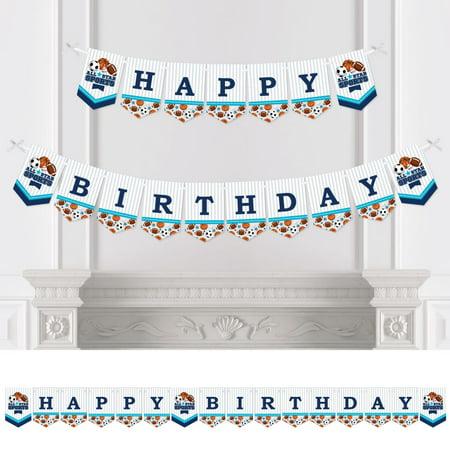 Go, Fight, Win - Sports - Birthday Party Bunting Banner - Birthday Party Decorations - Happy Birthday - Sports Birthday