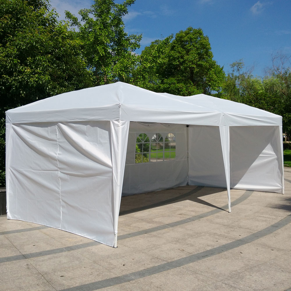 Zimtown 10u0027 x 20u0027 Outdoor EZ POP UP Party Tent Patio Wedding Canopy Gazebo : car canopies walmart - memphite.com