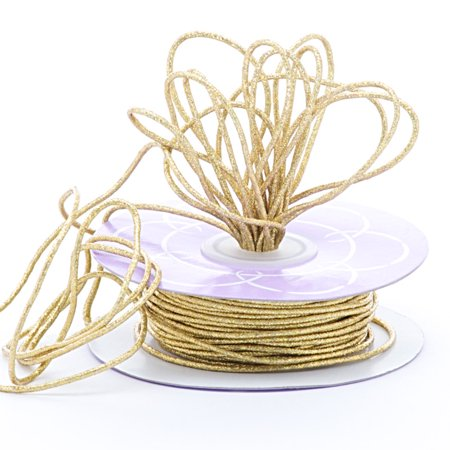 2mm X 40 Yards Gold Metallic Cord by Paper Mart - Gold String