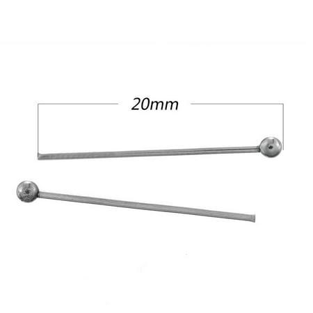 Ball End Head (100pcs Stainless Steel Silver Ball End Head Pins Findings Supplies 20mm 21)