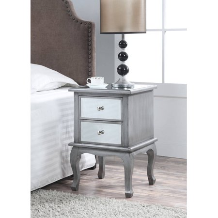 Mirror Cube Table - Convenience Concepts Gold Coast Mirrored End Table, Multiple Colors