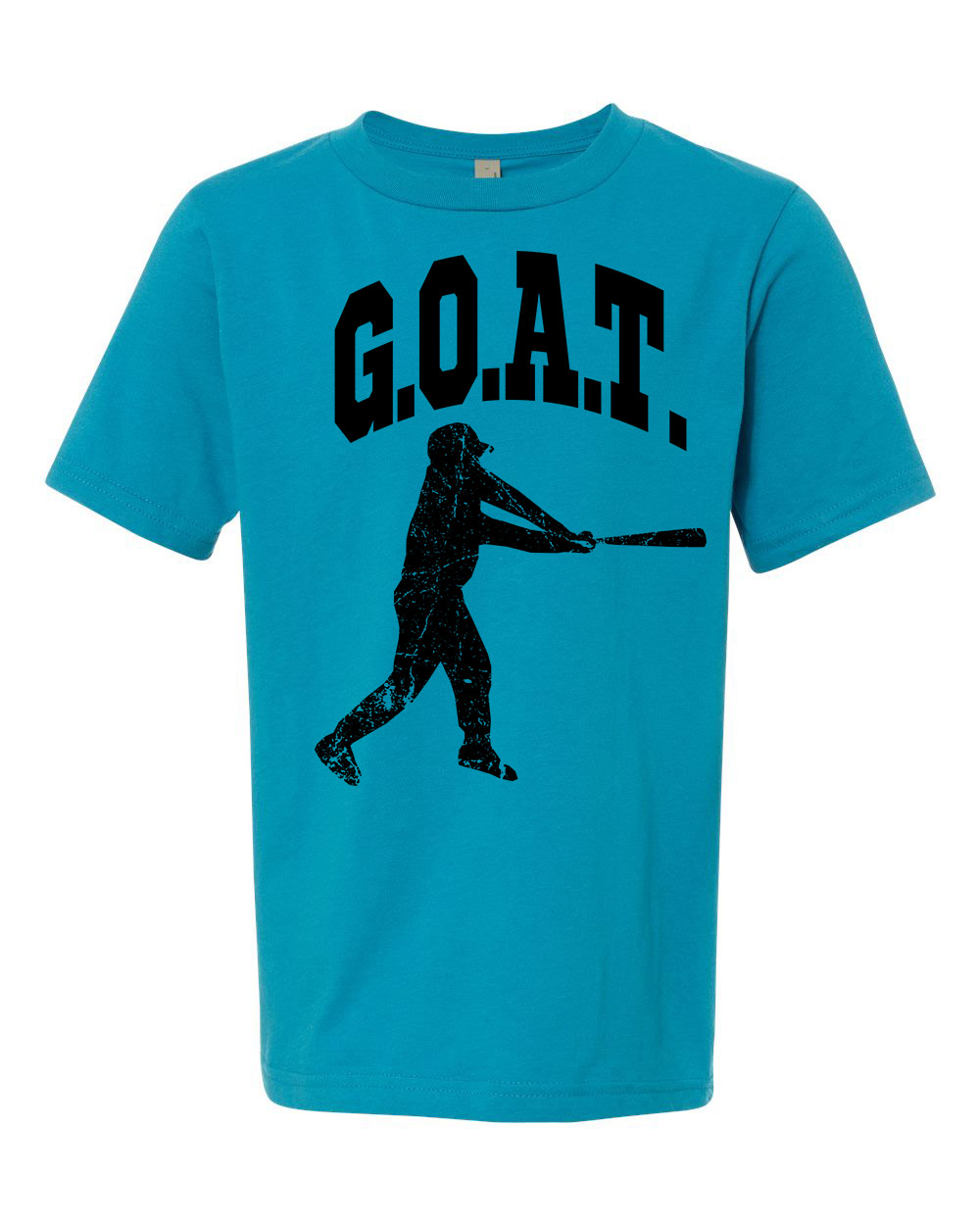 Greatest Of All Times G.O.A.T Baseball Youth Short Sleeve T-Shirt