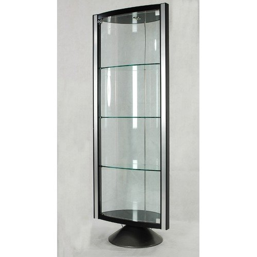 Chintaly Imports Half Round Glass Curio Cabinet