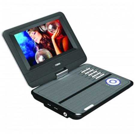 NAXA NPD-703 7 inch TFT LCD Swivel Screen Portable DVD Player with USB-SD-MMC Inputs
