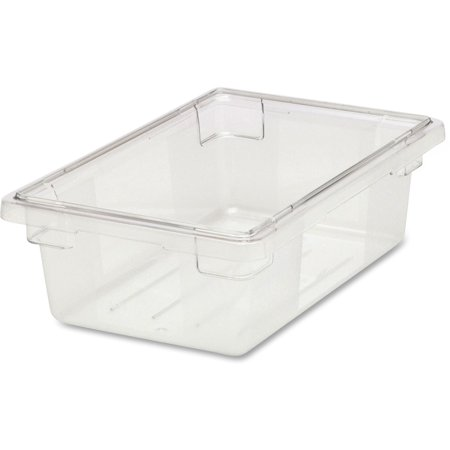 1 Gallon Box (Rubbermaid Commercial, RCP330900CLR, 3-1/2 Gallon Clear Food/Tote Box, 1 Each, Clear )