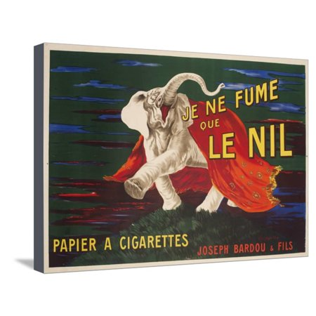 Vintage Advertising Paper - Le Nil Rolling Paper Vintage Advertising Poster Stretched Canvas Print Wall Art