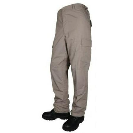 Tru-Spec Mens Tru Basic BDU Pants, Khaki, Extra Large, Long