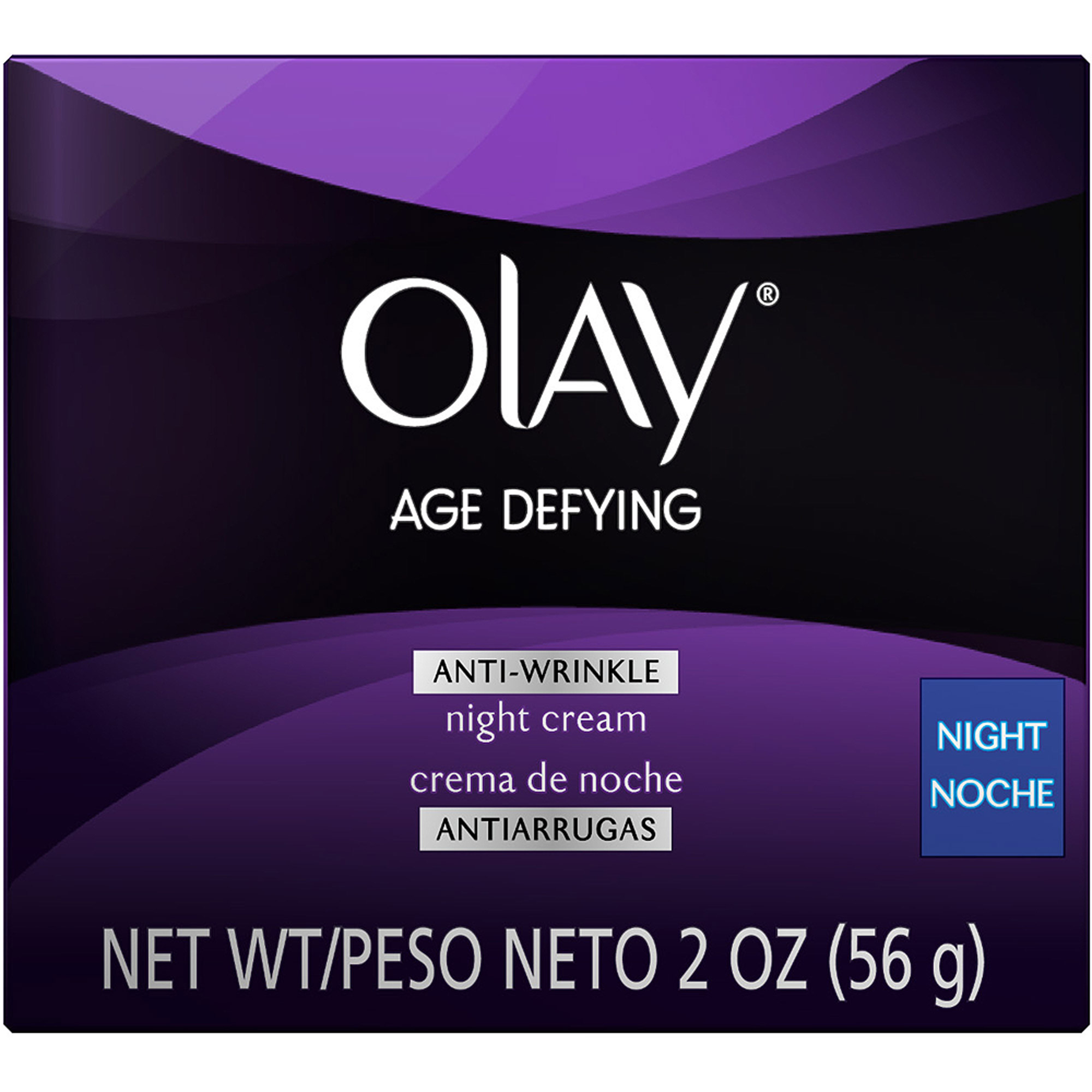 Olay Age Defying Anti-Wrinkle Night Facial Moisturizer Cream, 2 oz