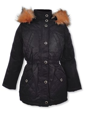 Urban Republic Girls' Quilted Panel Hooded Jacket