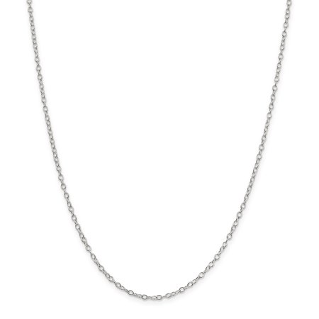 925 Sterling Silver 2.25mm Oval Cable Chain 24 Inch - image 5 of 5