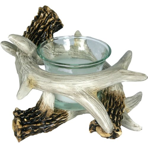 River's Edge Deer Antler Candle Holder