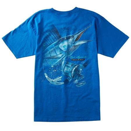Reel Legends Mens Sailfish (Reel Free T-shirt)