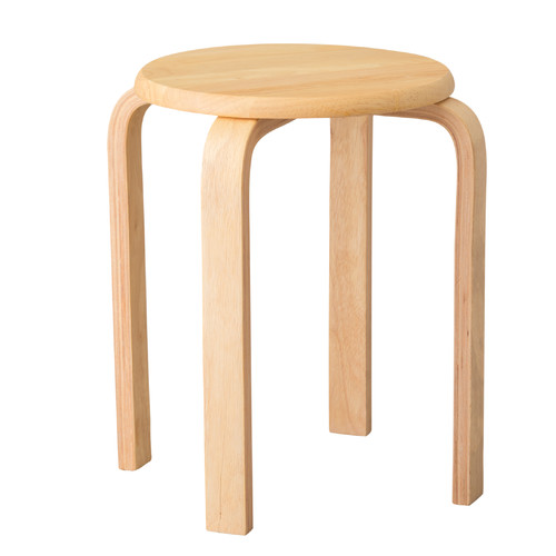 Emissary Home and Garden Rubberwood Stool