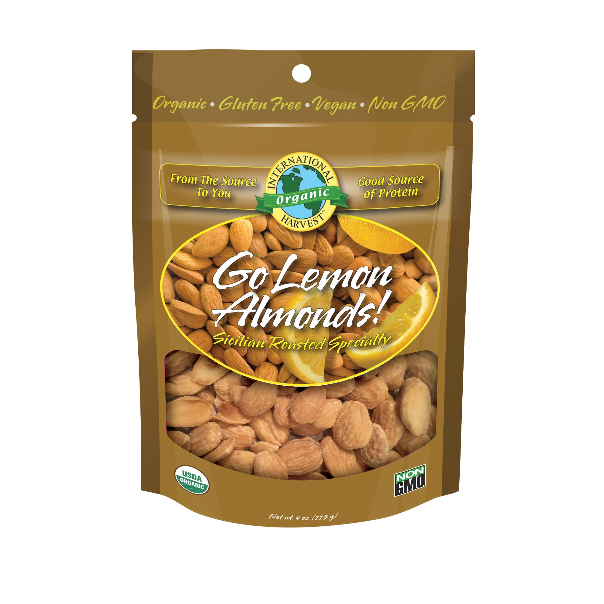 International Harvest Go Lemon Almonds, 4 Oz