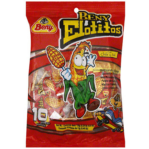 Dulces Beny Chili And Pineapple Flavored Lollipops, 4.6 oz (Pack of 24)