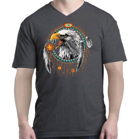 Shop4Ever Men's Bald Eagle V-Neck T-Shirt Shirts
