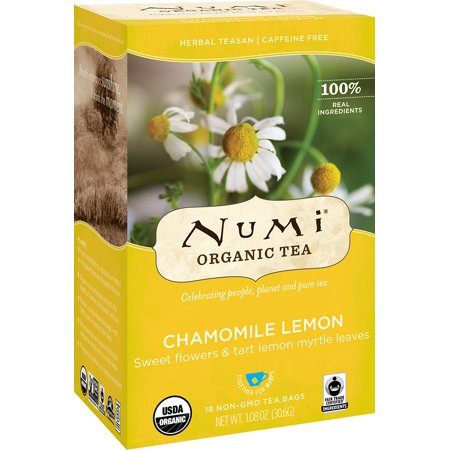 Numi Chamomile Lemon Organic Tea Bags, 18 count, 1.27