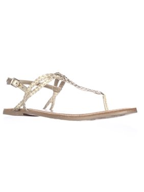 0e3d1681069 Product Image Womens American Rag Keira Braided Thong Flat Sandals - Gold