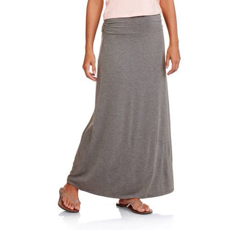 606899bf3 Faded Glory - Women's Classic Maxi Skirt - Walmart.com