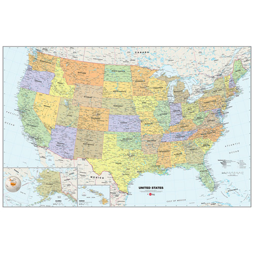 WallPops U.S.A. Map Dry-Erase Calendar Decal