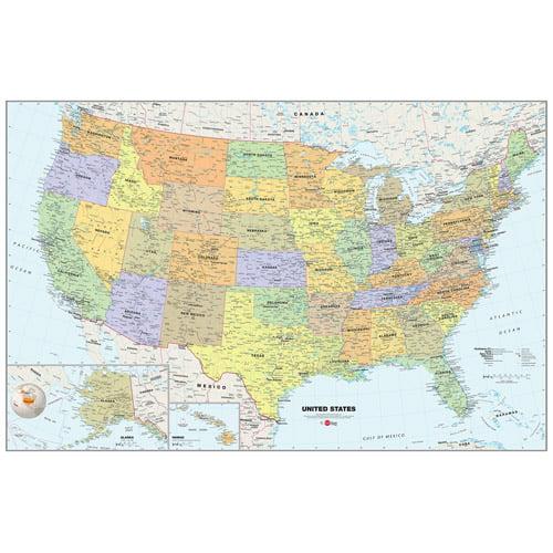WallPops U.S.A. Map Dry-Erase Calendar Decal