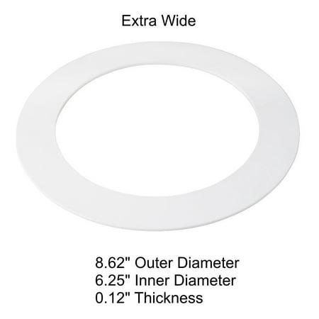 - 5 Pack White Plastic Trim Ring for 8