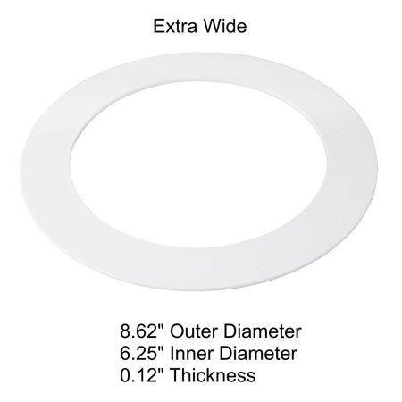 5 Pack White Plastic Trim Ring For 8 Quot Inch Recessed Can