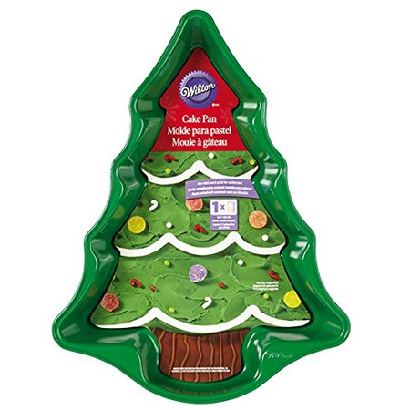 Wilton 2105-0070 Christmas Tree Cake Pan, The Christmas Tree Cake Pan makes it easy to bake and decorate a shaped cake or cookie that you can serve.., By Wilton Enterprises - Cake And Bake