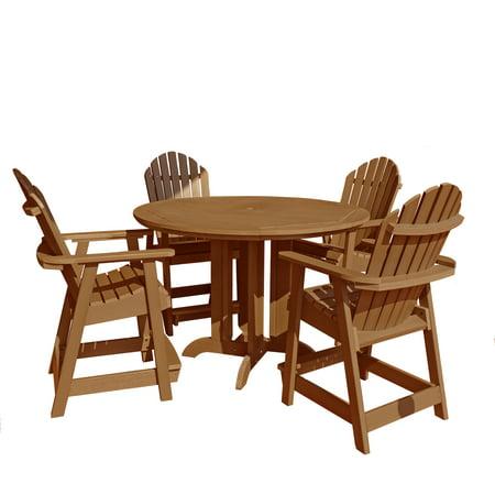 highwood® Eco-Friendly Hamilton 5pc Round Counter Dining Set ()
