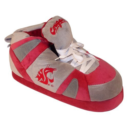 Comfy Feet NCAA Sneaker Boot Slippers - Washington State Cougars