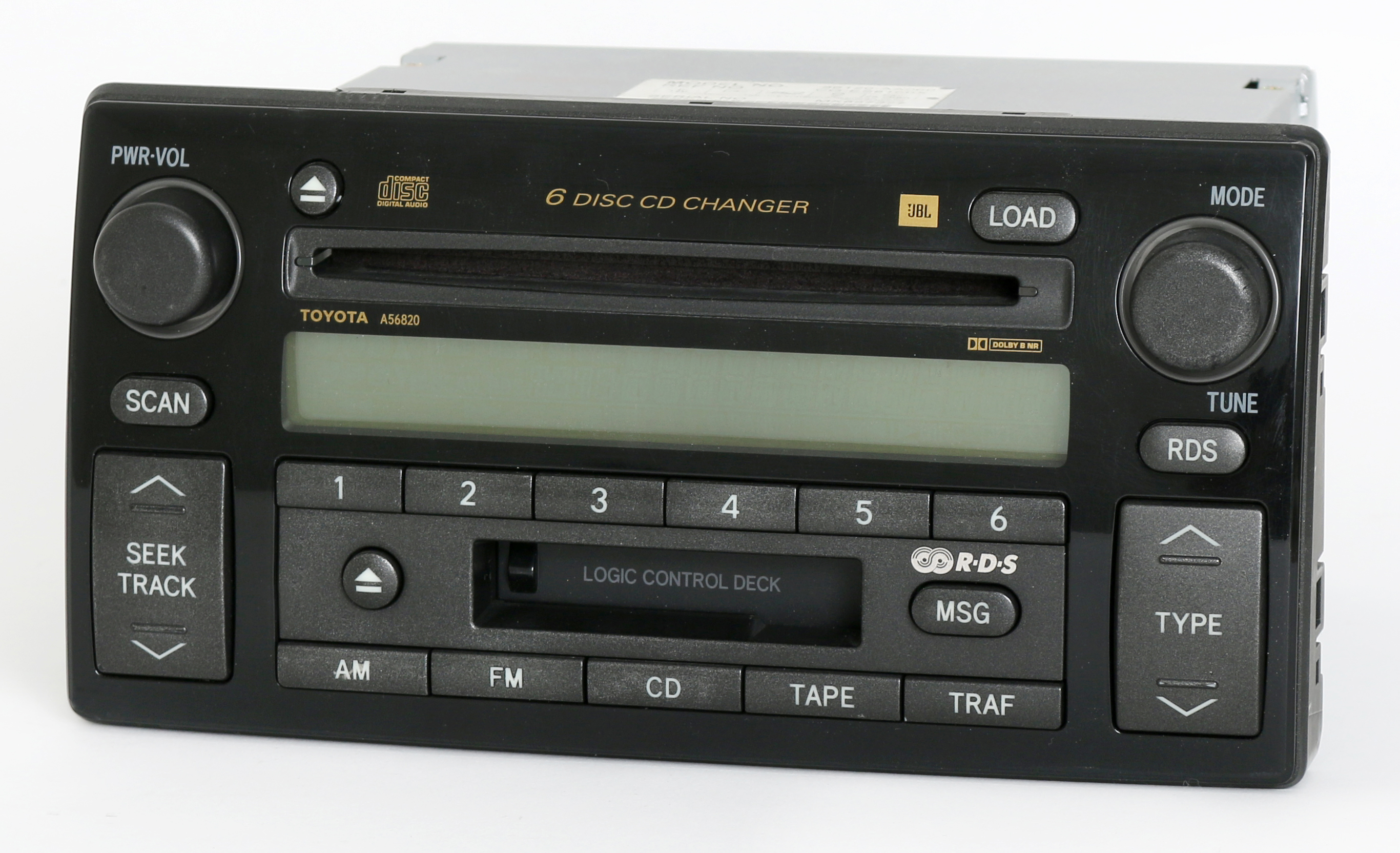 Toyota Camry 2002-2004 Radio AM FM 6 Disc CD Cassette Player 86120-AA060 A56820 Refurbished by Toyota