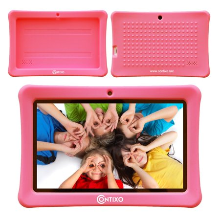 Contixo Defender Series Silicone 7 inch Android Tablet Cover Case (Pink) ()