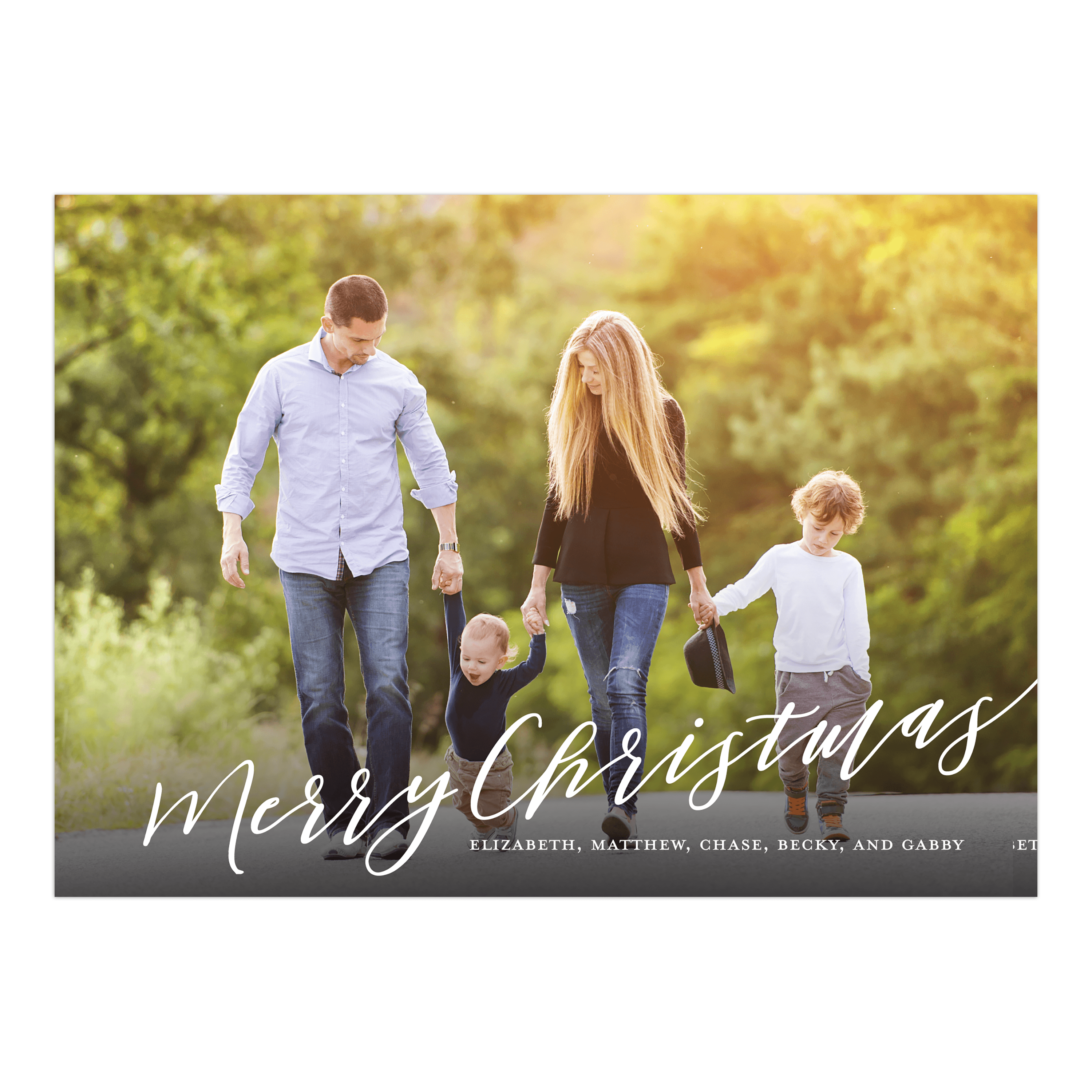 Personalized Holiday Photo Card - Christmas Script