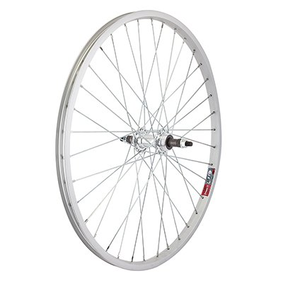 Road Bike Rear Wheel (Wheel Master Rear Bicycle Wheel 24 x 1.5-1.75 36H, Alloy, Bolt On, Silver )