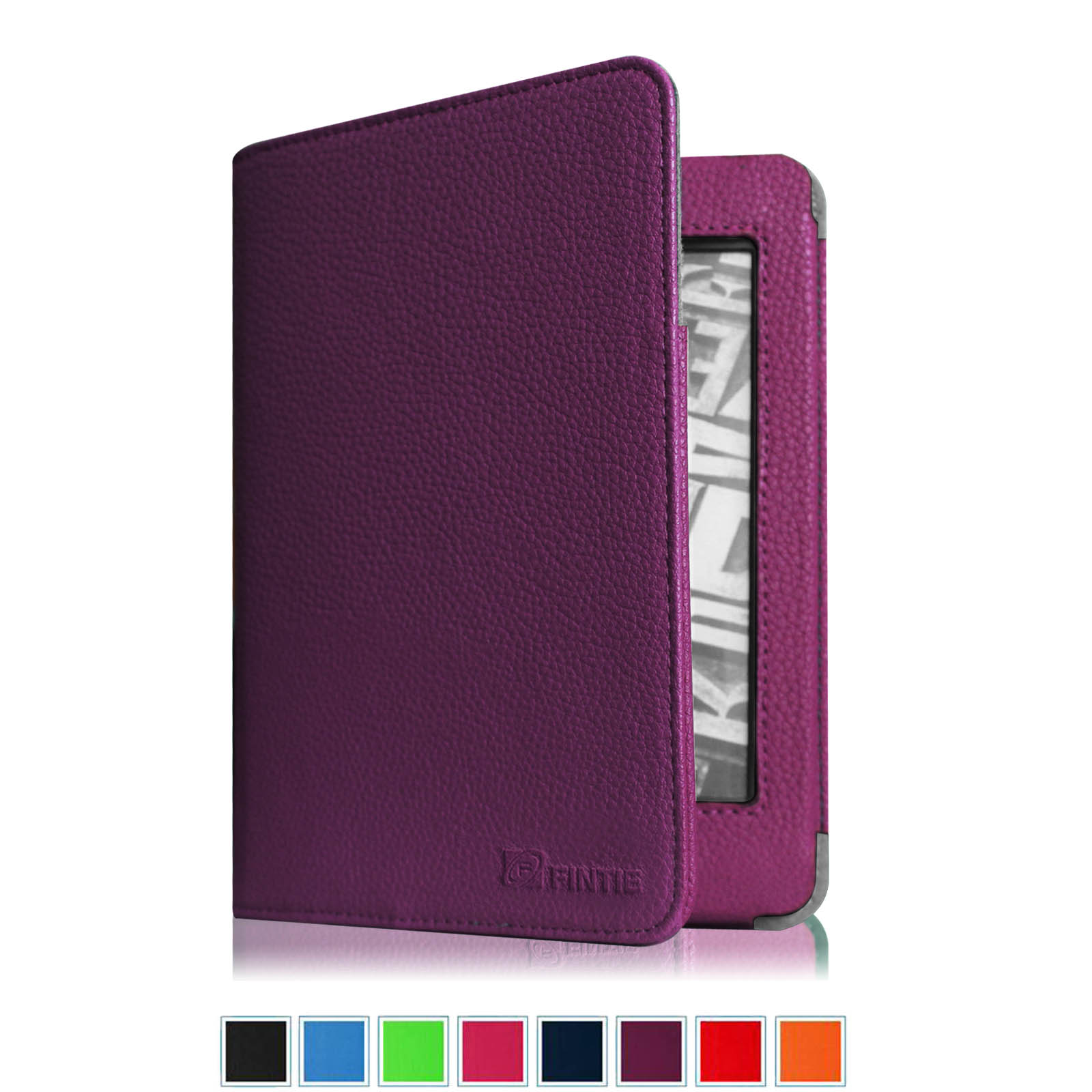 "Amazon Kindle 7th Gen (2014 Model) 6"" Display Folio Case - Fintie Slim Fit Protective PU Leather Cover, Purple"