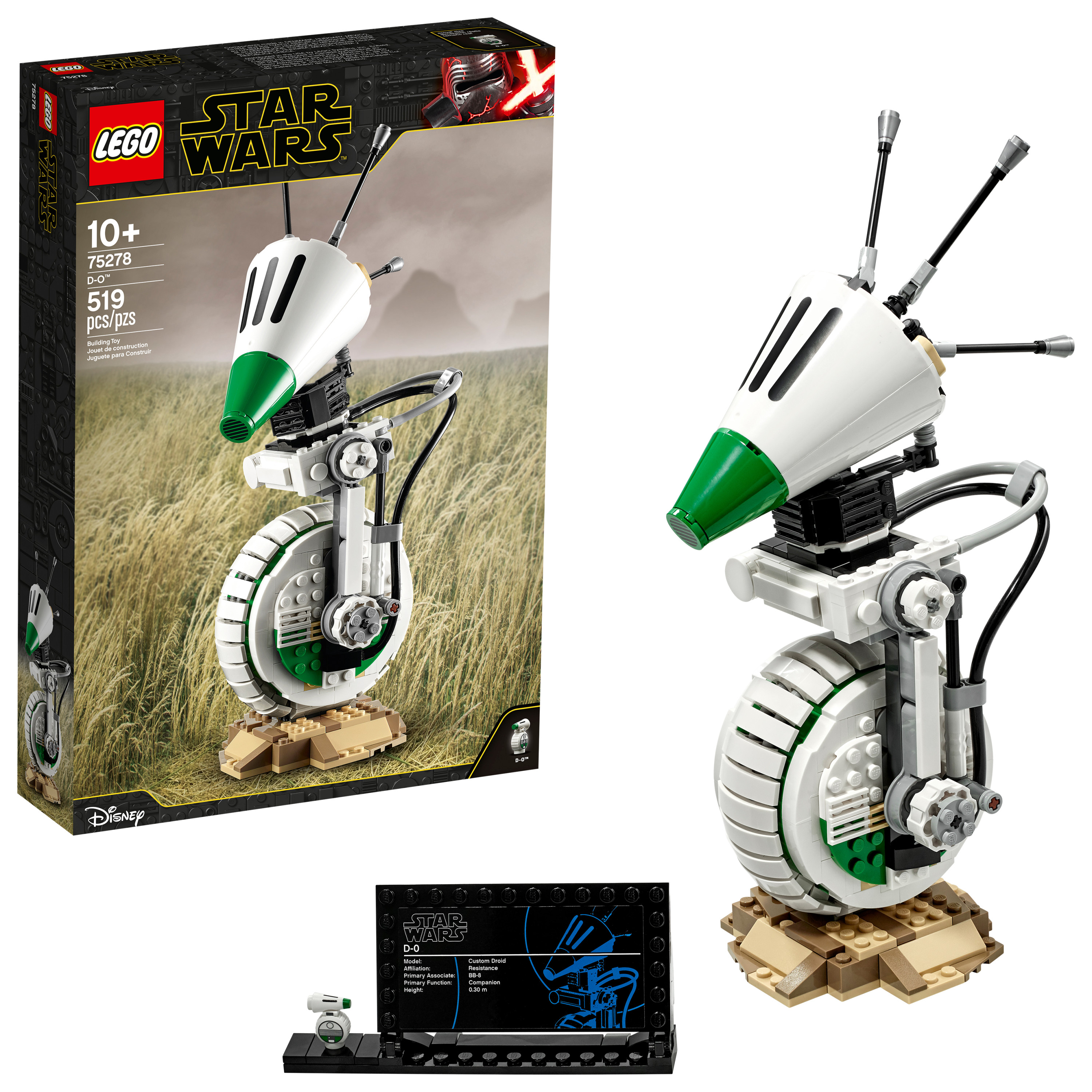 LEGO Star Wars D-O 75278 Building Kit; Cool Star Wars: The Rise of Skywalker Building Toy for Ages 10+ (519 Pieces)