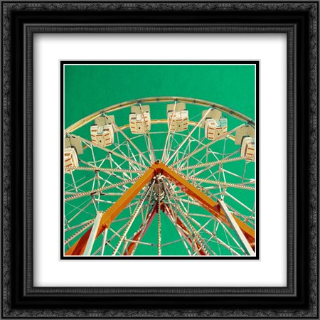 Green Ferris Wheel 2x Matted 20x20 Black Ornate Framed Art Print by Peck, Gail](Ferris Wheel Centerpiece)