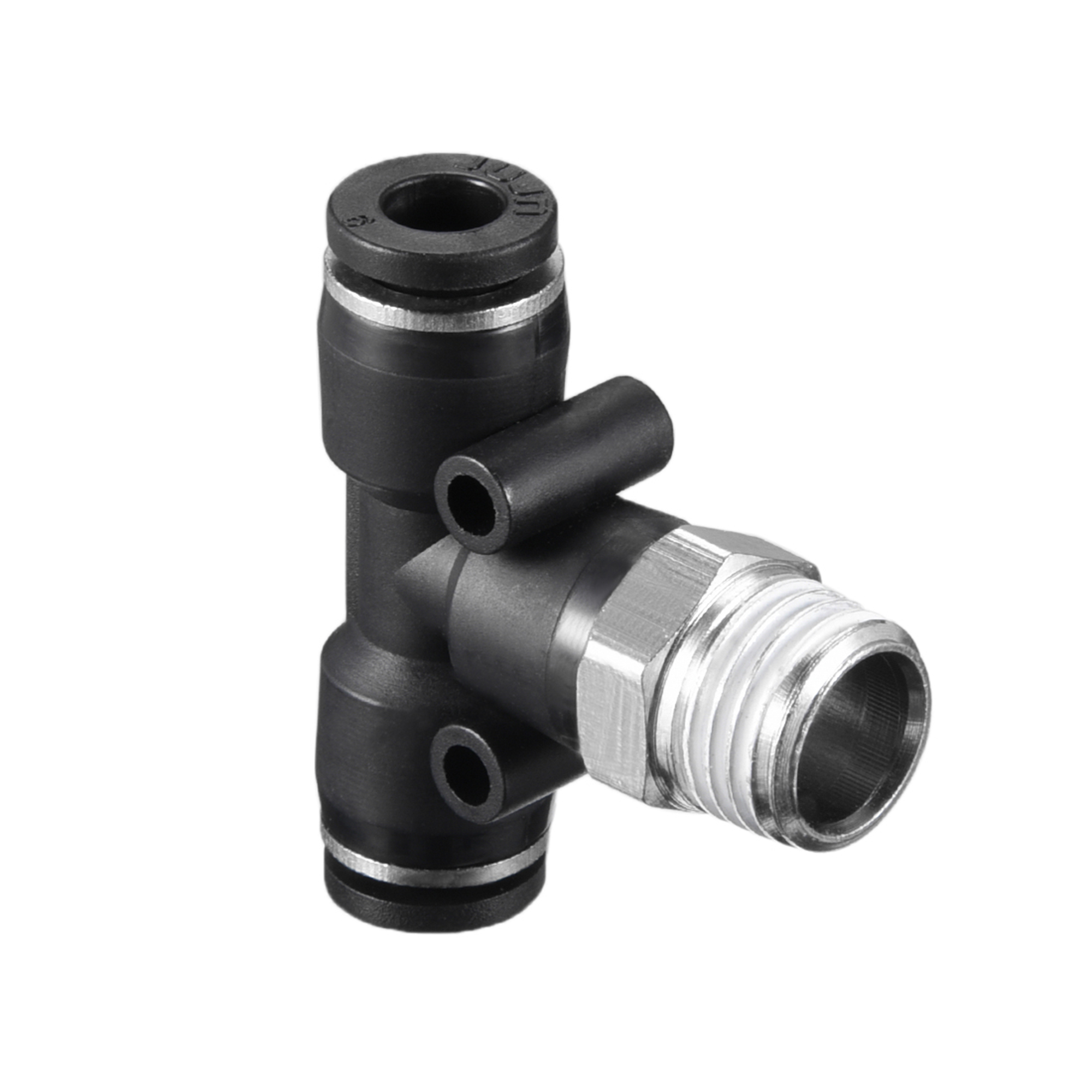 "Push To Connect Fittings T Type Thread Tee Tube Connect 15/64"" OD x 1/4"" G Male Thread Push Fit Fittings Tube Fittings P - image 2 de 4"