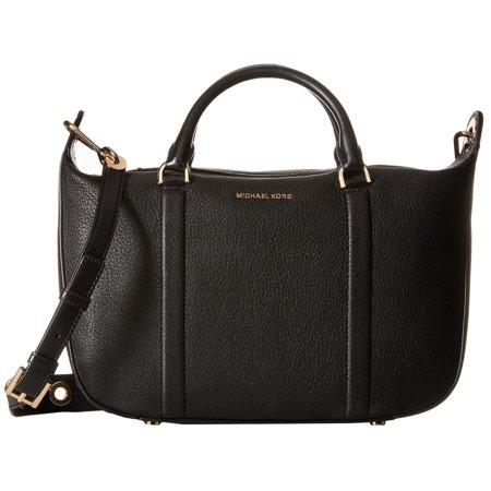 595b1f21bcc2 MICHAEL Michael Kors - Michael Kors Raven Black Large Satchel Handbag -  Walmart.com